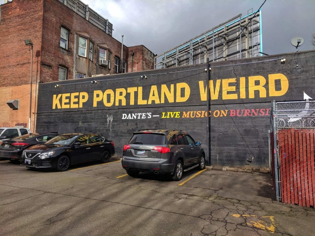 Keep Portland Weird wall